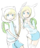 Finn and Fionna the Human by xxxShiningStarxxx