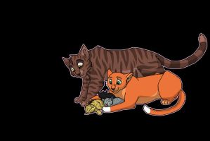 brambleclaw and squirrelflight by brownwhisker