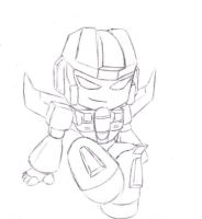 Deviously Cute Starscream by BeeInDreaming