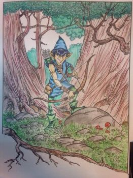 Forest Archer - Adult Coloring by LFHaven