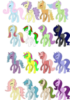 pony adoptables! 3 points each! (open) by MissCicero