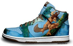 Custom Nike Dunks: Tarzans by kaycunana