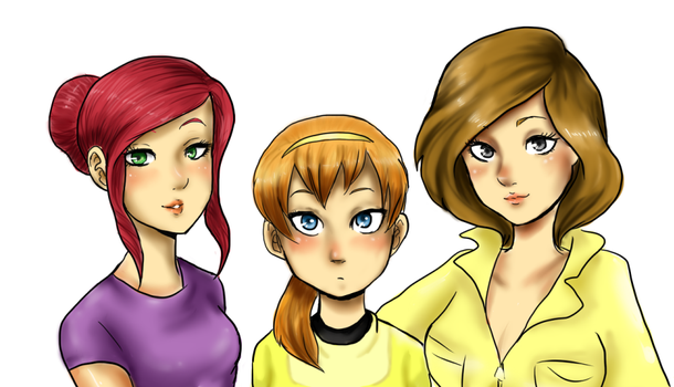 Many faces of April O'Neil by EsuNeh
