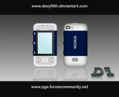 Nokia 5300 Blue by davy-filth