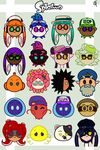 Splatoon Character Icons by ShadowRewinds