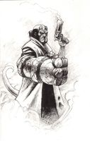 Hellboy sketch by ArminOzdic
