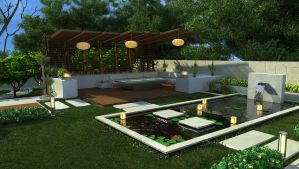 pergola 4 with pool by ELFTUG