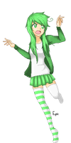 .:Shannon Sreamin' Green:. by RayEpicRainbow