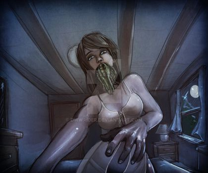 Kiss of the Cthulhu Woman by dwwrider