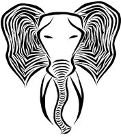 Tribal Elephant by MyMomSaysImCool