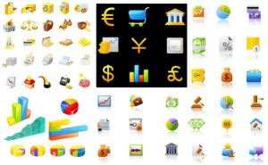 Financial Icons Vector Graphics by FreeIconsFinder