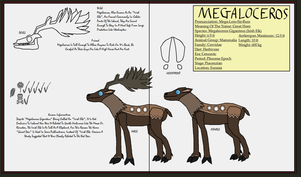 Dinatheen P-Animal Info Ref: Megaloceros by Tyrannosaurus90s