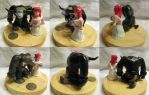 Warcraft Wedding Cake Topper by redrockwildcat