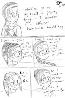 Crane Hollow Doodle comic: Different Hairstyle? by MinionKing