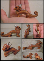 Red Oriental Dragon Sculpt by tallydragon
