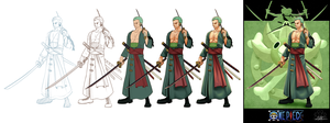 'One Piece cards : Zoro' step by step by Lily-Fu