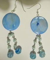 blue nacre earrings by AnaInTheStars