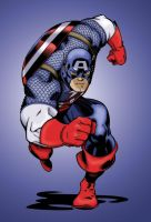 Captain America Colors by Crausse