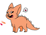 Peach Dino Dog Adoptable by DragonsRforever