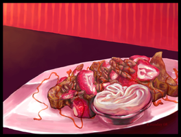 strawberry french toast by whinges