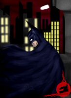 Batman Thinking by DoubleDandE