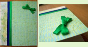 Postcard_Green bow by Misty-AnGel