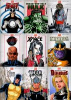Marvel NOW Sketch Cards Set 2 by wardogs101