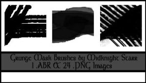 Grunge Mask brushes by MidknightStarr