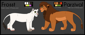 Frosst + Parzival Couple Reference Sheet by Lluma