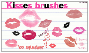 Kisses brushes by stardixa
