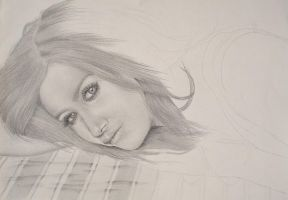 Ashley Tisdale -Dreaming- WIP by LeyuArt