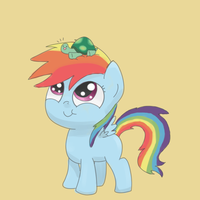 Filly and Tortoise... Baby. by spicyhamsandwich