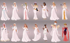 Animated Ladies  In Wedding Gowns by autumnrose83