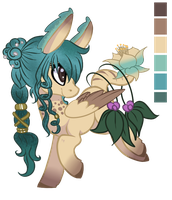 :Glowsprite Pony Auction: Aquarian Heart (Closed) by AzrealRou