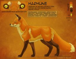 Harhune Reference Sheet by Fealoki
