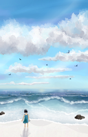 Sky study 2 by crunchy-apple