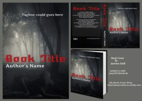 Premade Book Cover 583 - Dark Forest with Info by Jassy2012