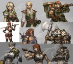 Game characters by Felsus