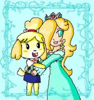 rosalina and isabelle by ninpeachlover