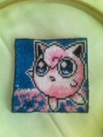 Jigglypuff Cross-stitch by Bydrassil