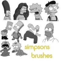 Simpsons Brushes by Hollywoodiiloveyou