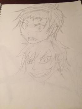 Ao no Exorcist Rin doodle by madam3gr33n