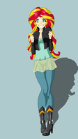 Sunset Shimmer New Outfit by Icesticker