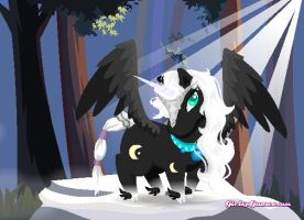 Midnight Unicorn/Pegasus Adopt #3 FREE (CLOSED) by blackshuck5adopts
