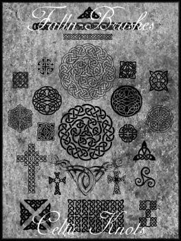 Celtic Knot Brushes by Falln-Stock