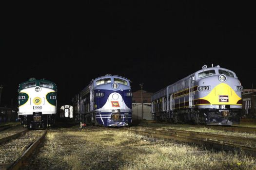 Old Diesel's At Night by 3window34