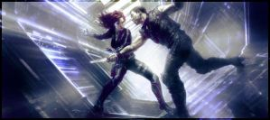 [Avengers Pack] Hawkeye and Black Widow Signature by DeiNyght
