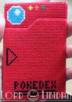 3D Pokedex Cross Stitch Closed by LordLibidan