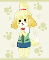 Animal crossing new leaf Isabelle by TheAsinineCanine