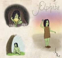 Small Elphaba Sketchdump Colored by ADQuatt